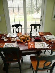 Thanksgiving at home two years ago.