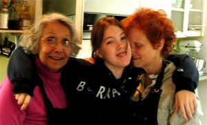 My mom, daughter and me.