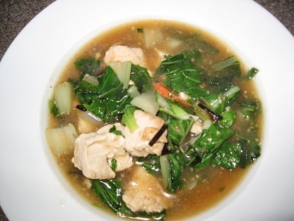c-in the bowl chicken bok choy soup